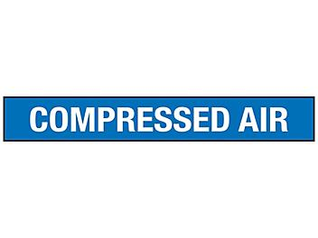 """""""Compressed Air"""" Pipe Markers - 3/4 - 2 3/8"""" Pipe Diameter S-23497-1"""