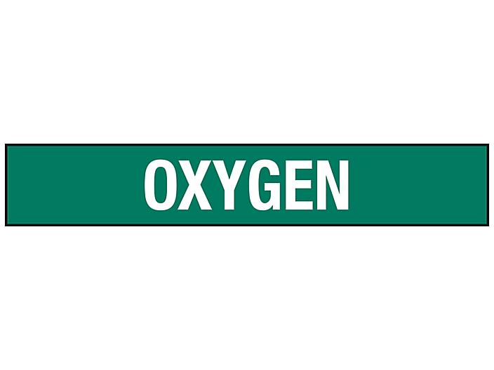 """""""Oxygen"""" Pipe Markers - 8""""+ Pipe Diameter S-23499-3"""
