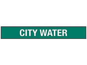 """City Water"" Pipe Markers - 3/4 - 2 3/8"" Pipe Diameter S-23501-1"