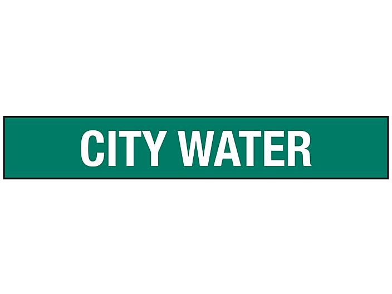 """City Water"" Pipe Markers - 2 1/2 - 7 7/8"" Pipe Diameter S-23501-2"