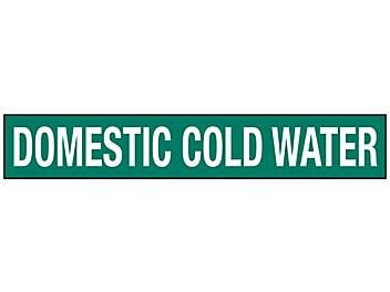 """""""Domestic Cold Water"""" Pipe Markers - 8""""+ Pipe Diameter S-23502-3"""