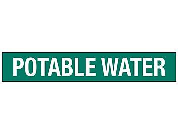 """Potable Water"" Pipe Markers - 8""+ Pipe Diameter S-23504-3"