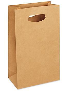 """Paper Take-Out Bags - 8 x 4 x 13 5/8"""", Kraft S-23513"""
