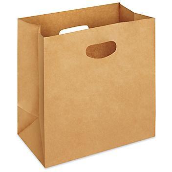 """Paper Take-Out Bags - 11 x 6 x 11"""", Kraft S-23514"""