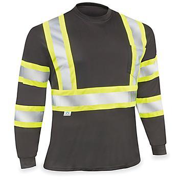 Black Hi-Vis Long Sleeve T-Shirt - XL S-23521-X