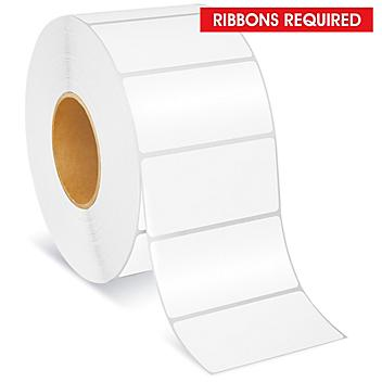 """Blockout Industrial Thermal Transfer Labels - 4 x 2"""", Ribbons Required S-23578"""