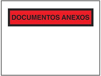"Spanish Super Stick® Packing List Envelopes - ""Documentos Anexos"", 4 1/2 x 6"" S-23582"
