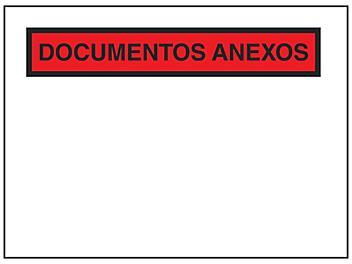 "Spanish Super Stick® Packing List Envelopes - ""Documentos Anexos"", 7 1/2 x 5 1/2"" S-23583"
