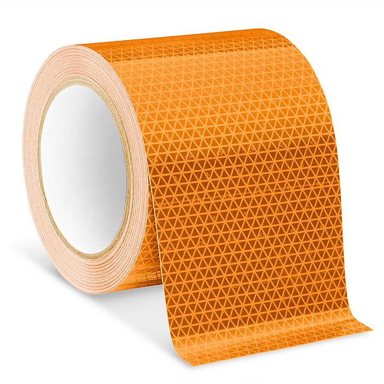 "Outdoor Reflective Tape - 4"" x 50', Orange S-23632O"