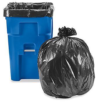Uline Industrial Trash Liners - 75 Gallon, 2 Mil, Black S-23677BL