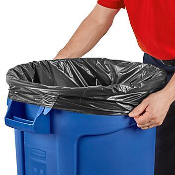 Uline Industrial Coreless Trash Liners - 1.5 Mil, 33 Gallon, Black S-23688BL