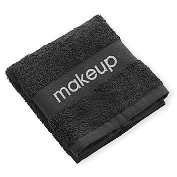 "Black Makeup Wash Cloths - 13 x 13"" S-23699"