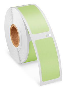 "Uline Mini Printer Labels - Green Paper, 1 x 2 1/8"" S-23719G"