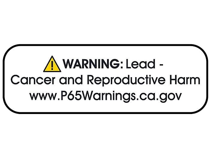"""California Prop 65 Labels - """"Warning: Lead - Cancer and Reproductive Harm"""", 1 1/2 x 1/2"""" S-23837"""