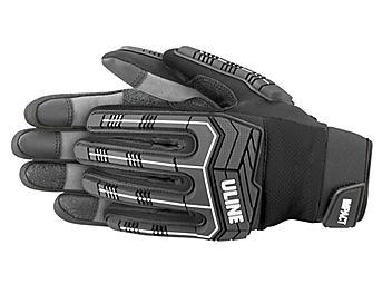 Uline Impact Gloves - Black, Large S-23997BL-L