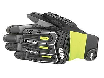 Uline Impact Gloves - Lime, Medium S-23997G-M