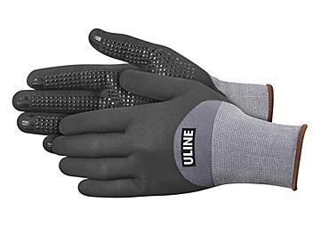 Uline CoolFlex™ Ultra 3/4 Micro-Foam Nitrile Coated Gloves - Large S-23999-L