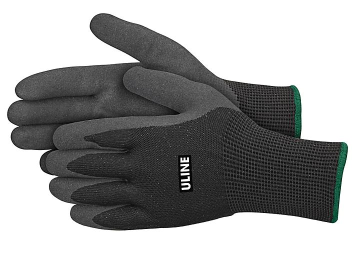 Uline Durarmor™ Ice Thermal Nitrile Coated Gloves - Black, Medium S-24002BL-M