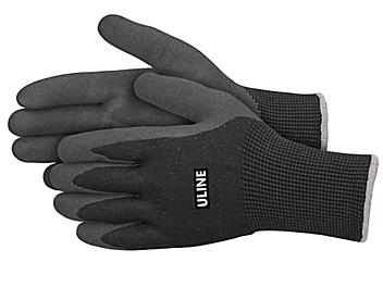 Uline Durarmor™ Ice Thermal Nitrile Coated Gloves - Black, XL S-24002BL-X