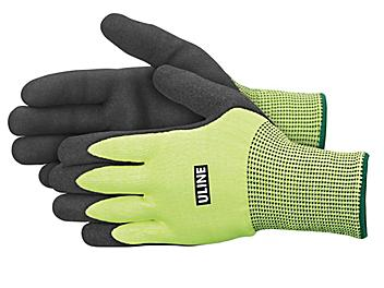 Uline Durarmor™ Ice Thermal Nitrile Coated Gloves - Lime, Medium S-24002G-M