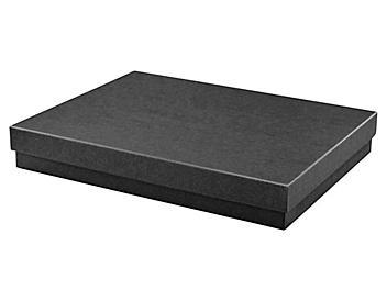 """Jewelry Boxes - 7 x 5 1/2 x 1"""", Black Matte S-24028"""