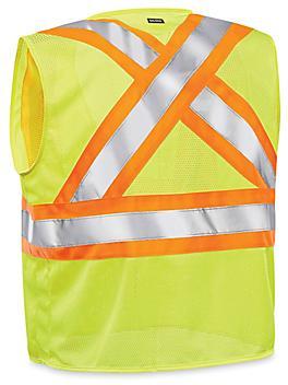 Class 2 X-Back Hi-Vis Safety Vest - Lime, L/XL S-24029G-L