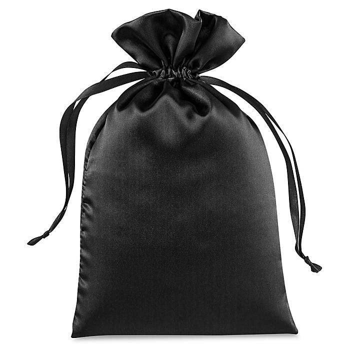 "Satin Bags - 6 x 10"", Black S-24041BL"