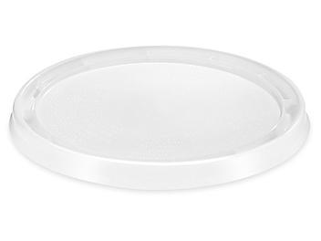 Standard Lid for 1 Quart Plastic Pail - White S-24086W