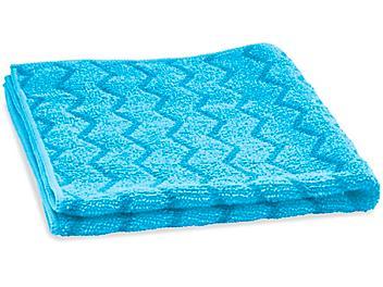 """Scrubbing Stripe Textured Microfiber Towels - 16 x 16"""", Blue S-24143BLU"""