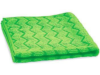"Scrubbing Stripe Textured Microfiber Towels - 16 x 16"", Green S-24143G"
