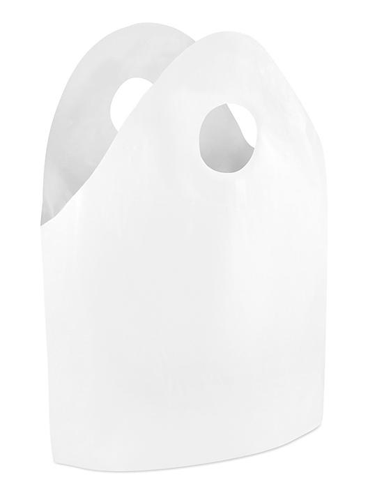 """Gusseted Take Out Bags - 1.2 Mil, 16 x 16 x 8"""", White S-24146"""