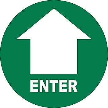 "Anti-Slip Floor Sign - ""Enter"", 17"" Diameter S-24197"