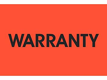 """Inventory Control Labels - """"Warranty"""", 2 x 3"""" S-24207"""