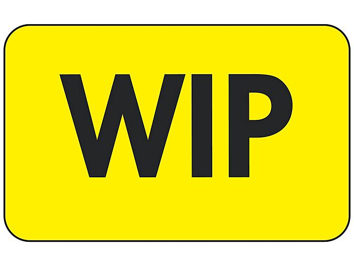 """Production Labels - """"WIP"""", 1 1/4 x 2"""" S-24227"""