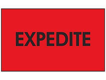 "Production Labels - ""Expedite"", 3 x 5"" S-24232"