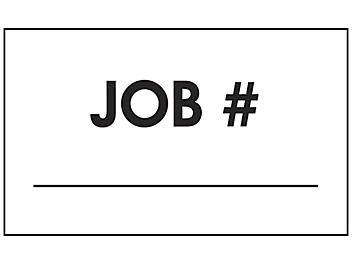 """Production Labels - """"Job #"""", 3 x 5"""" S-24234"""