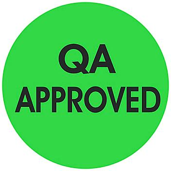 """Circle Inventory Control Labels - """"QA Approved"""", 2"""" S-24240"""
