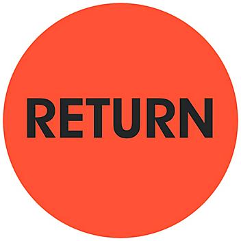 """Circle Inventory Control Labels - """"Return"""", 2"""" S-24241"""