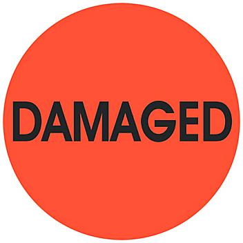 """Circle Inventory Control Labels - """"Damaged"""", 2"""" S-24242"""