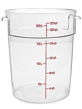 Cambro® Round Food Storage Containers - 22 Quart S-24254