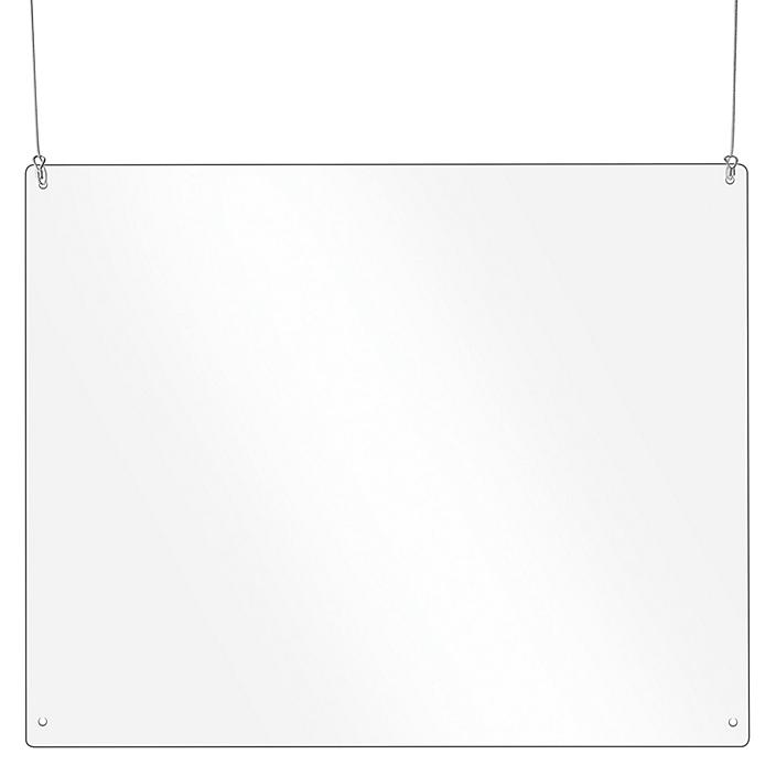 """Hanging Safety Shield - 34 x 42"""" S-24270"""