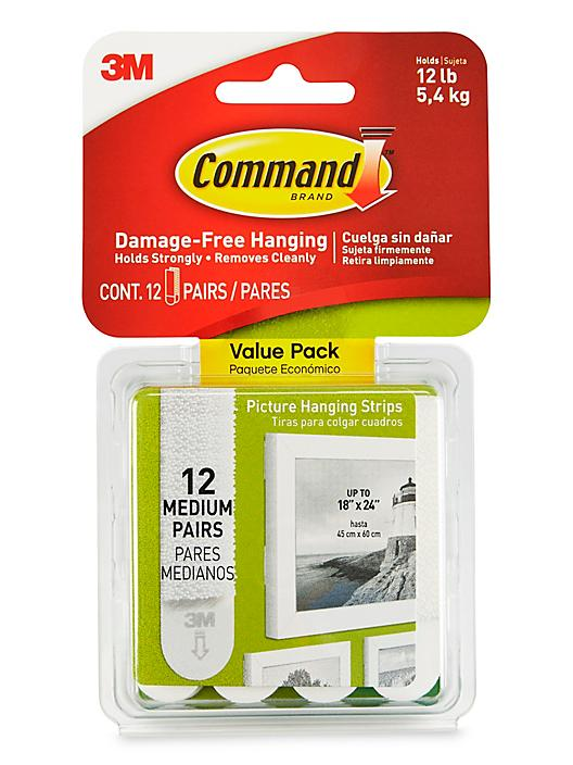 3M 17204 Command™ Picture Hanging Strips Value Pack - Medium S-24284