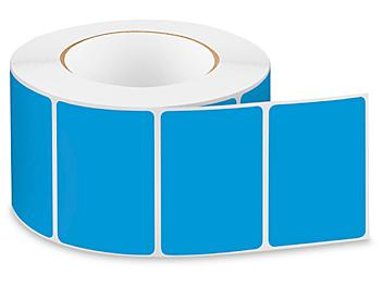 """Removable Adhesive Rectangle Labels - Blue, 3 x 2"""" S-24299BLU"""