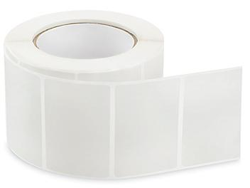 """Removable Adhesive Rectangle Labels - Clear, 3 x 2"""" S-24299C"""