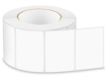 """Removable Adhesive Rectangle Labels - White, 3 x 2"""" S-24299W"""