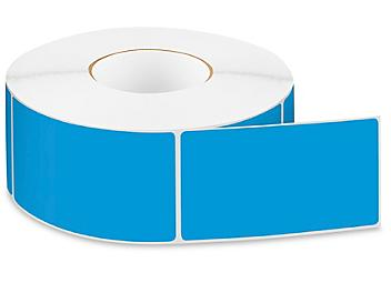 """Removable Adhesive Rectangle Labels - Blue, 3 x 5"""" S-24300BLU"""