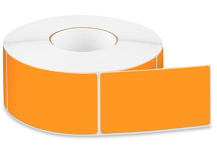 """Removable Adhesive Rectangle Labels - Fluorescent Orange, 3 x 5"""" S-24300ORG"""
