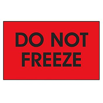 """""""Do Not Freeze"""" Label - 3 x 5"""" S-24307"""