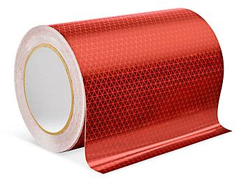 """Outdoor Reflective Tape - 6"""" x 50', Red S-24328R"""