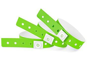 Plastic Wristbands - Green S-24335G